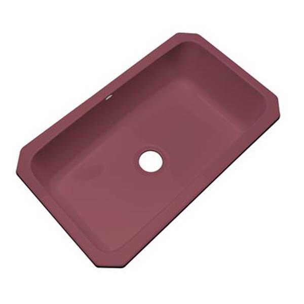 Dekor Brookwood 33-in x 22-in Raspberry Puree Undermount Kitchen Sink
