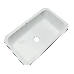 Dekor Brookwood 33-in x 22-in Ice Gray Undermount Kitchen Sink