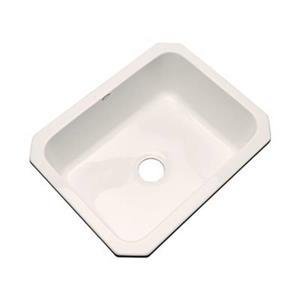 Dekor Princeton 25-in x 22-in Bone Undermount Kitchen Sink