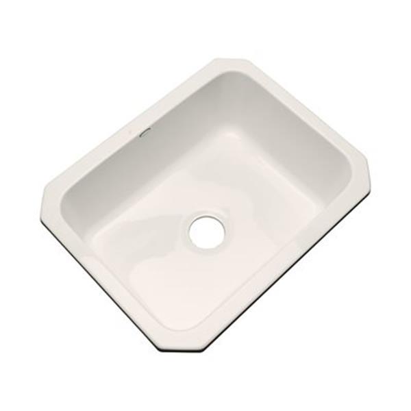 Dekor Princeton 25-in x 22-in Almond Undermount Kitchen Sink