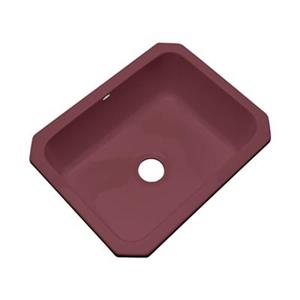 Dekor Princeton 25-in x 22-in Raspberry Puree Undermount Kitchen Sink