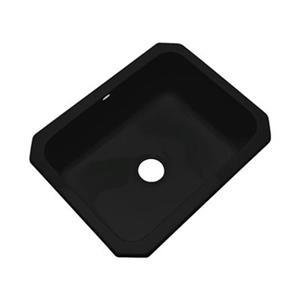Dekor Princeton 25-in x 22-in Black Undermount Kitchen Sink