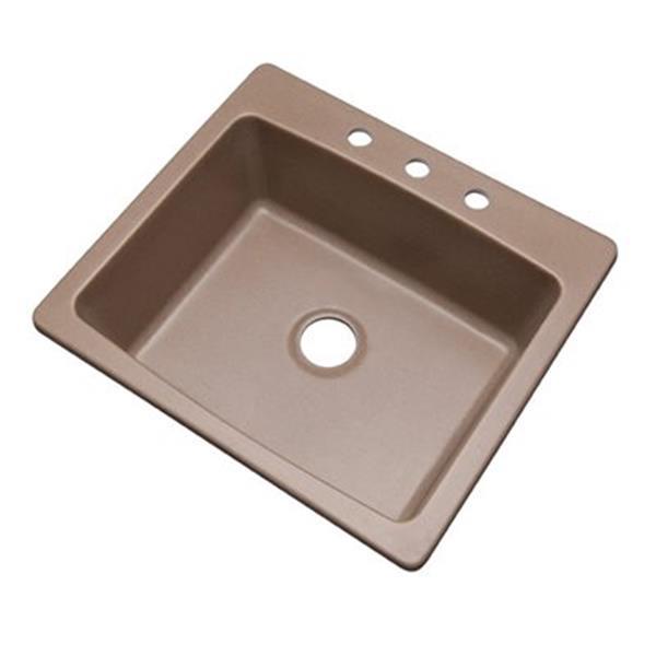 Dekor Waterbury 25-in x 22-in Natural Kitchen Sink