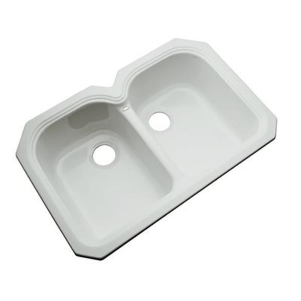 Dekor Waterford 33-in x 22-in Sterling Silver Undermount Double Kitchen Sink