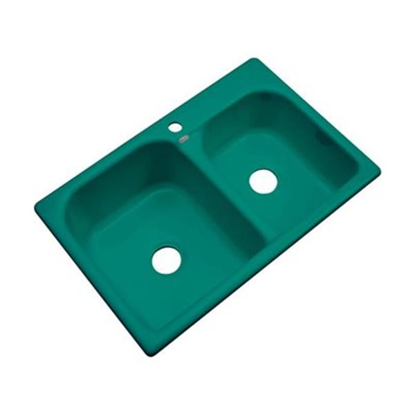 Dekor 22-in x 31-in Verde Thornbury Double Bowl Kitchen Sink