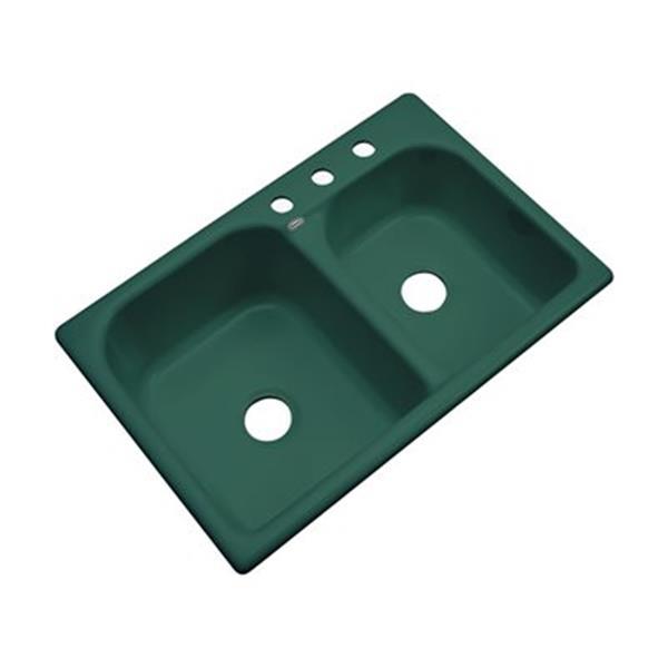 Dekor 22-in x 31-in Rainforest Thornbury Double Bowl Kitchen Sink
