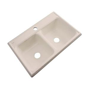 Dekor Nantucket 22-in x 33-in Candlelyght Double Bowl Kitchen Sink