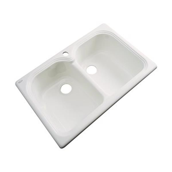 Dekor Waterford 33-in x 22-in Natural Double Bowl Kitchen Sink