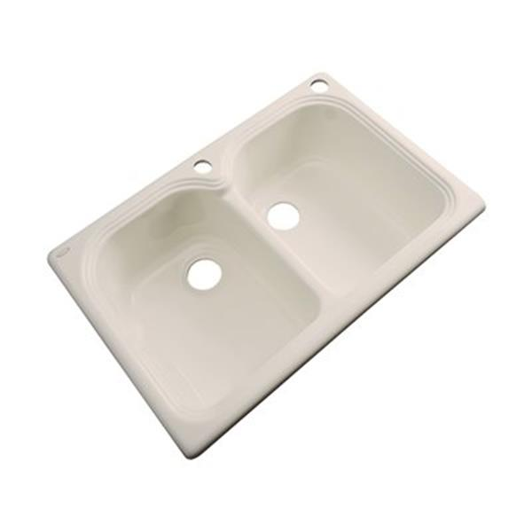 Dekor Waterford 33-in x 22-in Candlelyght Double Bowl Kitchen Sink