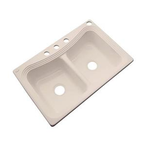 Dekor Alliston 22-in x 33-in Candlelyght Double Bowl Kitchen Sink