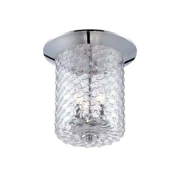 Eurofase Elli Chrome 3-Light Flush Mount Ceiling Light