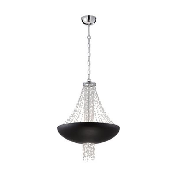Eurofase Lopez Matte Black  8-Light Large Pendant Light