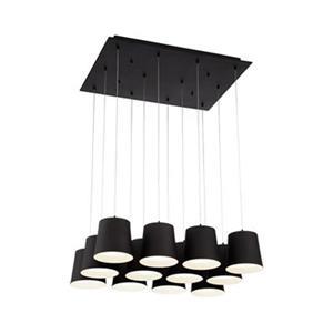 Eurofase Borto Black 12-Light LED Multi-Pendant Light
