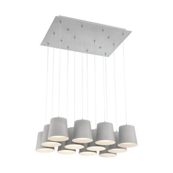 Eurofase Borto Gray 12-Light LED Multi-Pendant Light