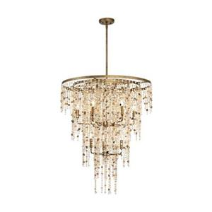 Eurofase Savannah 9-Light Gold Imperial Silver Large Pendant Light