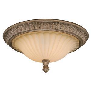 Cascadia Avenant 3-Light Bronze Flush Mount Ceiling Light