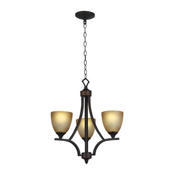 Amlite Lighting Astoria Weathered Bronze 3-Light Chandelier