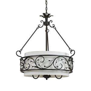 Amlite Lighting Alecia 4-Light Roman Bronze Large Pendant