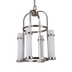 Amlite Lighting Chase Brushed Nickel 4-Light Chandelier