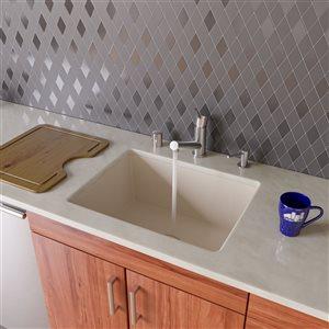 ALFI Brand 24-in Biscuit Undermount Single Bowl Kitchen