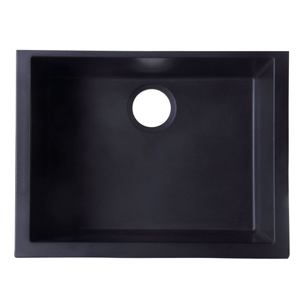 ALFI Brand 24-in Black Undermount Single Bowl Kitchen