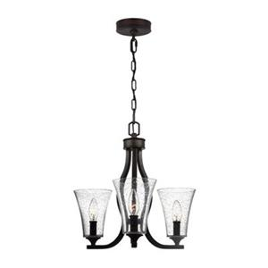 Feiss Marteau 3-Light Oil Rubbed Bronze Chandelier.