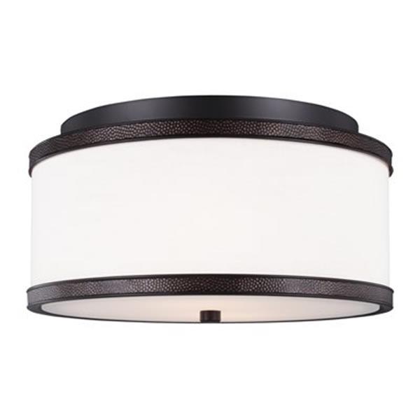 Feiss Marteau Oil Rubbed Bronze 2-Light Flush Mount Ceiling-Light