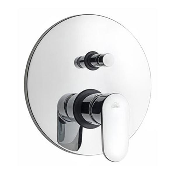 WS Bath Collections Candy Polished Chrome Concealed Shower Mixer with Diverter