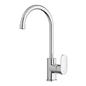 WS Bath Collections 14.80-in Chrome Kitchen Faucet with Swivel Spout