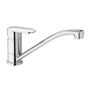 WS Bath Collections 6.10-in Chrome Kitchen Faucet with Swivel Spout