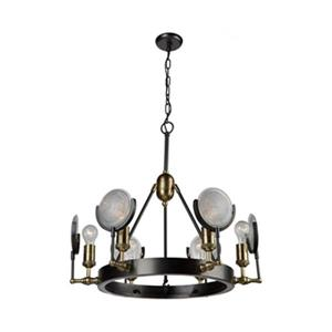 Artcraft Lighting Baker Street 6-Light Vintage Brass Chandelier