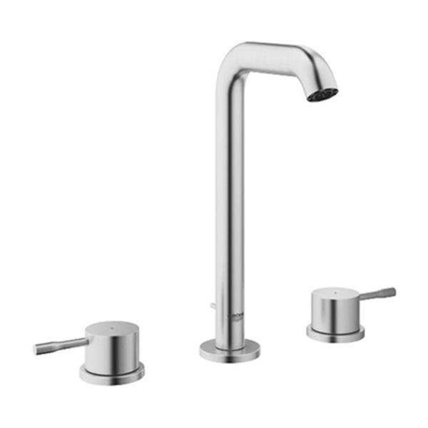 Grohe Brushed Nickel Essence Lavatory Wideset Faucet