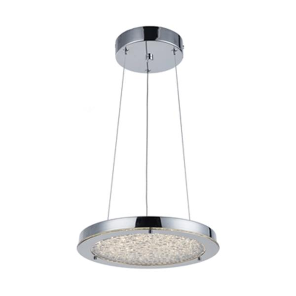 Artcraft Lighting Stardust Collection 12.25-in x 2.25-in Chrome LED Chandelier