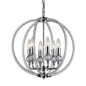 Warehouse of Tiffany Gia 6-Light Chrome Chandelier