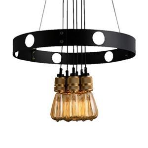 Warehouse of Tiffany 22-in x 50-in Black Jeanette 6-Light Chandelier