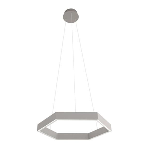 Design Living MV Series Collection 22-in x 2.4-in Light Grey Octagon LED Pendant Light
