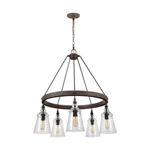 Feiss Loras 5-Light Dark Weathered Iron Chandelier