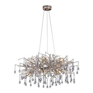 Design Living 10-Light Silver Branch Chandelier