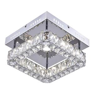 Design Living Triple Sided Crystal LED Flushmount Ceiling Light