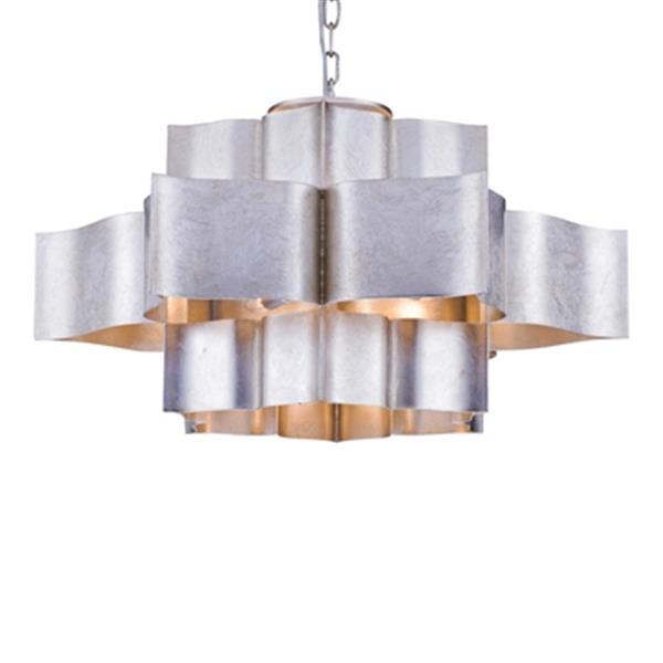 Design Living 29.9-in x 15.7-in Silver Three Tier Pendant Light