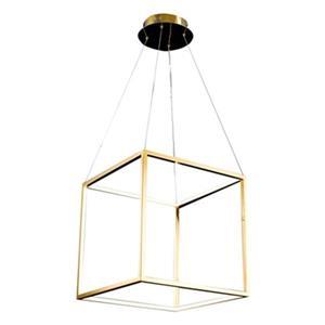 Bethel International 17-in x 17-in Gold Floating Cube LED Pendant Light