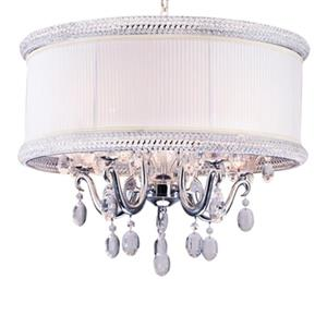 Design Living 5-Light Chrome Shaded Chandelier