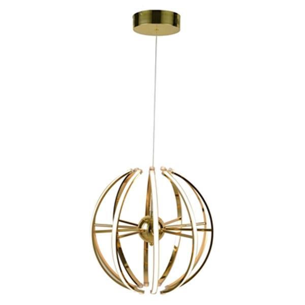 Design Living 17.7-in Gold Globe LED Pendant Light