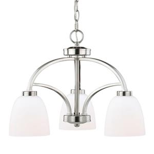 Cascadia Lighting Mea 3-Light Satin Nickel Chandelier