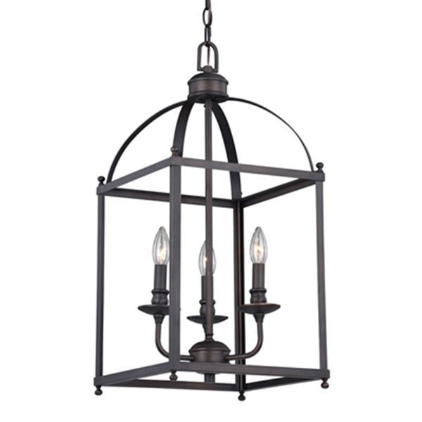 Cascadia Juliet 3-Light Bronze Lantern Candle Pendant Light