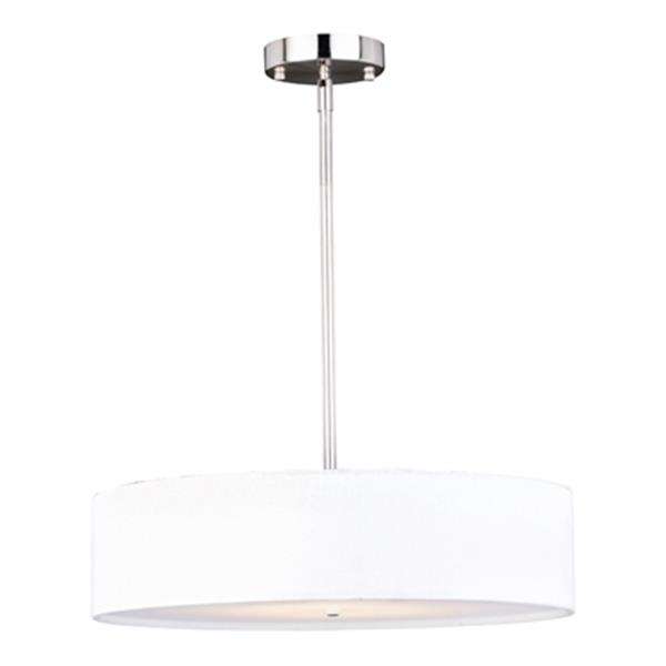 Cascadia Ashland Instalux LED Nickel Motion Sensor Drum Pendant Light