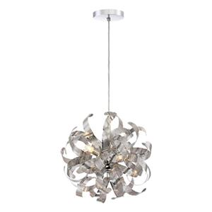 Quoizel Lace Collection 15-in x 15-in Polished Chrome Globe 9-Light Pendant Light