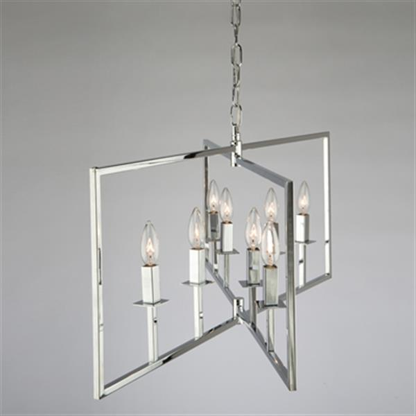 Artcraft Lighting Allston Wide 8-Light Chrome Chandelier
