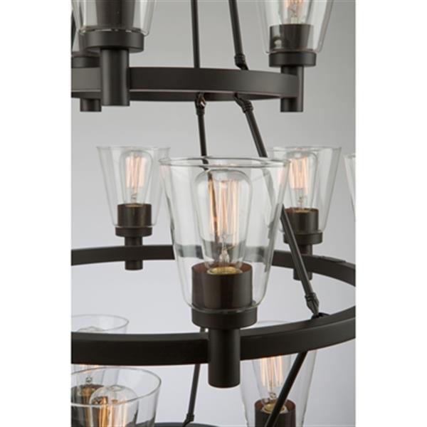 Artcraft Lighting Clarence 3-Tier 12-Light Oil Rubbed Bronze Chandelier