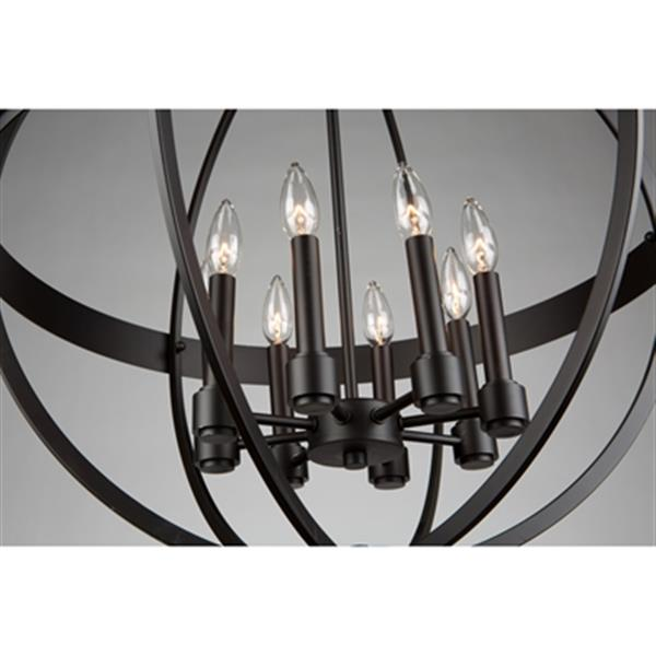 Artcraft Lighting Roxbury Oil Rubbed Bronze 8-Light Globe Chandelier
